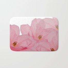 Pink Camelia Rose Bath Mat