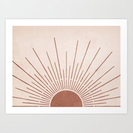 Sun #5 Terracotta Art Print