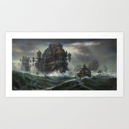 Kodran Migrant fleet  Art Print