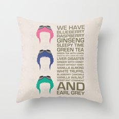 Myriad Of Teas Throw Pillow