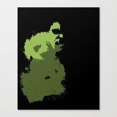 Hulk Splatter Canvas Print