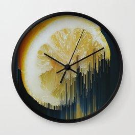 Lemony Good Glitch Wall Clock