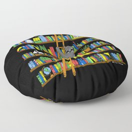 It's Ok to Be a Slow Reader (Black) Floor Pillow