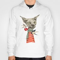 jazzberry Hoodies featuring Sphynx cat by dogooder