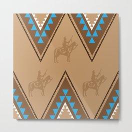 American Native Pattern No. 91 Metal Print