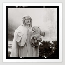 The Virgin Mother And Jesus Art Print