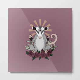 OM possum - radiates chill Metal Print
