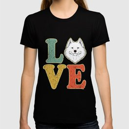 Love Samoyed Dog Lover Dog Owner Samoyed Gift T-shirt