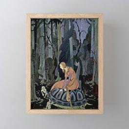 """""""The Black Tortoise"""" by Virginia Frances Sterrett Framed Mini Art Print"""