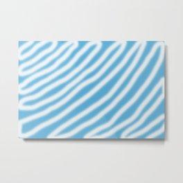 blue & white Metal Print