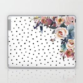 Boho Flowers and Polka Dots Laptop & iPad Skin