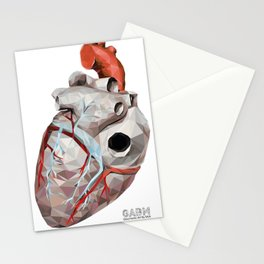 Geometric Heart Stationery Cards