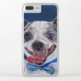 Chihuahua Dog Portrait Clear iPhone Case