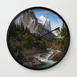 Joseph Anton Koch Reichenbach Valley Mountains Wall Clock