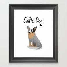 Cattle Dog - Cute Dog Series Framed Art Print