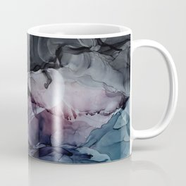 Moody Dark Chaos Inks Abstract Coffee Mug