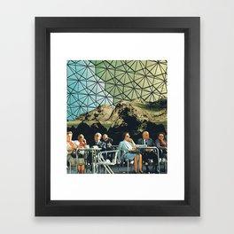 When we are older, vintage collage Framed Art Print
