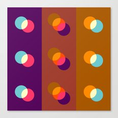 Overlapping circles Canvas Print