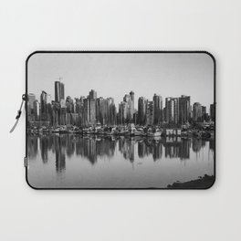 Black and White City Laptop Sleeve