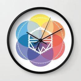 Color kaleidoskop Wall Clock