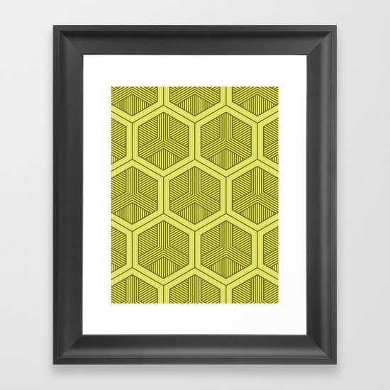 HEXAGON NO. 3 Framed Art Print