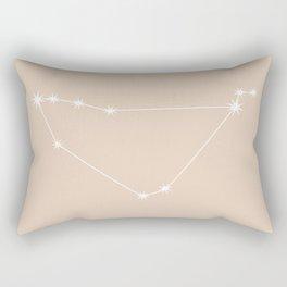 Capricorn Zodiac Constellation - Warm Neutral Rectangular Pillow