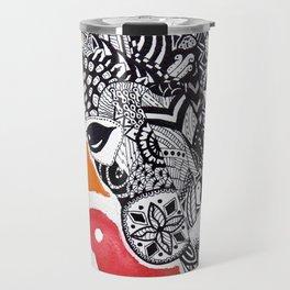 Zentangle Giraffe Travel Mug