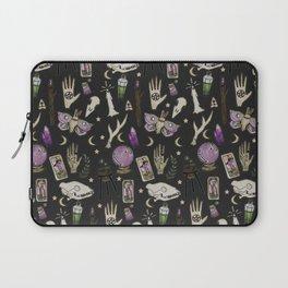 WITCH pattern • in black salt Laptop Sleeve