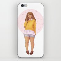 bee and puppycat iPhone & iPod Skins featuring Bee by laya rose
