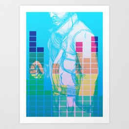 Pump up the jam Art Print