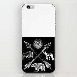 Crossed Arrows Bison Fox And Bear Wildlife iPhone Skin
