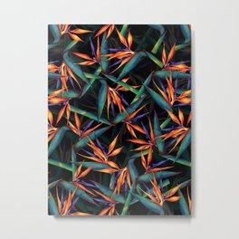 Tropical Leaf Pattern Metal Print