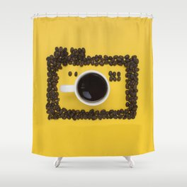 Coffee camera Shower Curtain