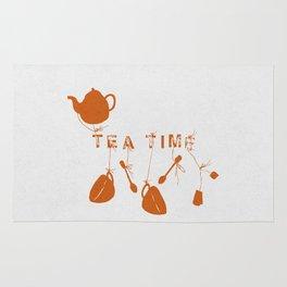 Orange Tea Time II Rug