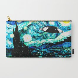 Starry Night UFO Carry-All Pouch