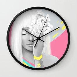 Om Girl Meditation Wall Clock