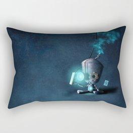 Glow Robot Rectangular Pillow