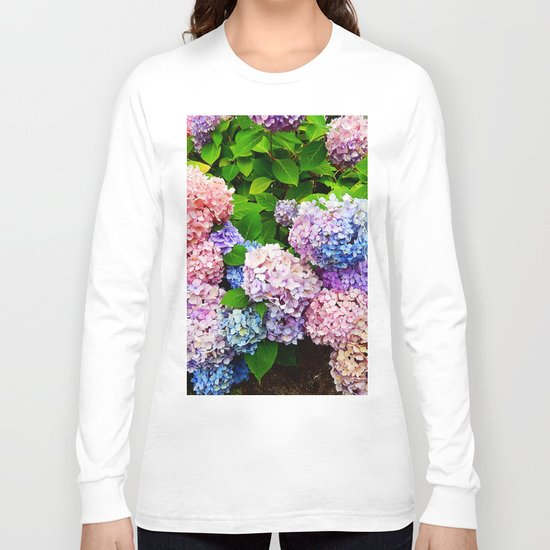 Rainbow of Flowers Long Sleeve T-shirt