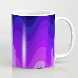 Ultraviolet Retro Ripple Coffee Mug