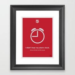 Alarm Clock Framed Art Print