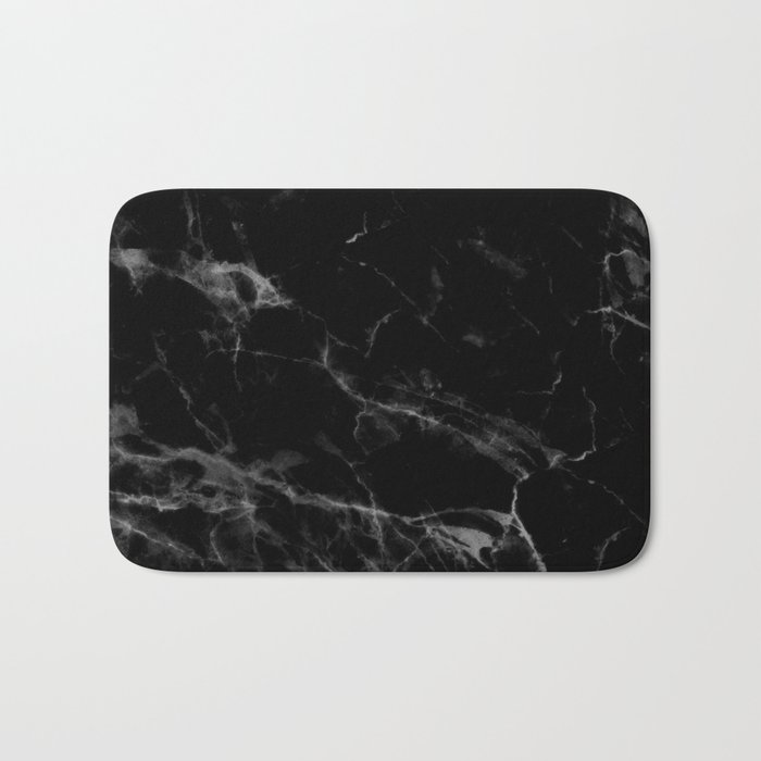 Black Marble Bath Mat