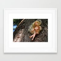 barbie Framed Art Prints featuring barbie by art_by_a_rose