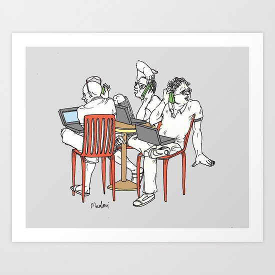 Let's meet for a coffee Art Print