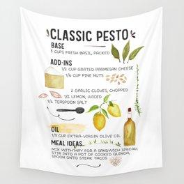 Illustrated Pesto Recipe  Wall Tapestry