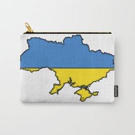 Ukraine Map with Ukrainian Flag Carry-All Pouch
