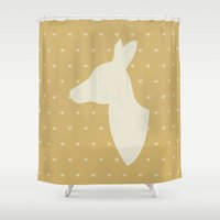 bambi Shower Curtains featuring Bambi by Tally Levin