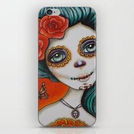 Día de los Muertos by Serena Bridgeman iPhone Skin