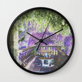 Lavender English Garden Wall Clock
