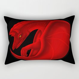 fierce dragon Rectangular Pillow