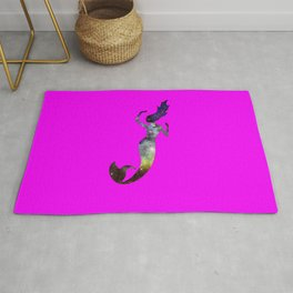 Galaxy Mermaid 2 (Pink) Rug